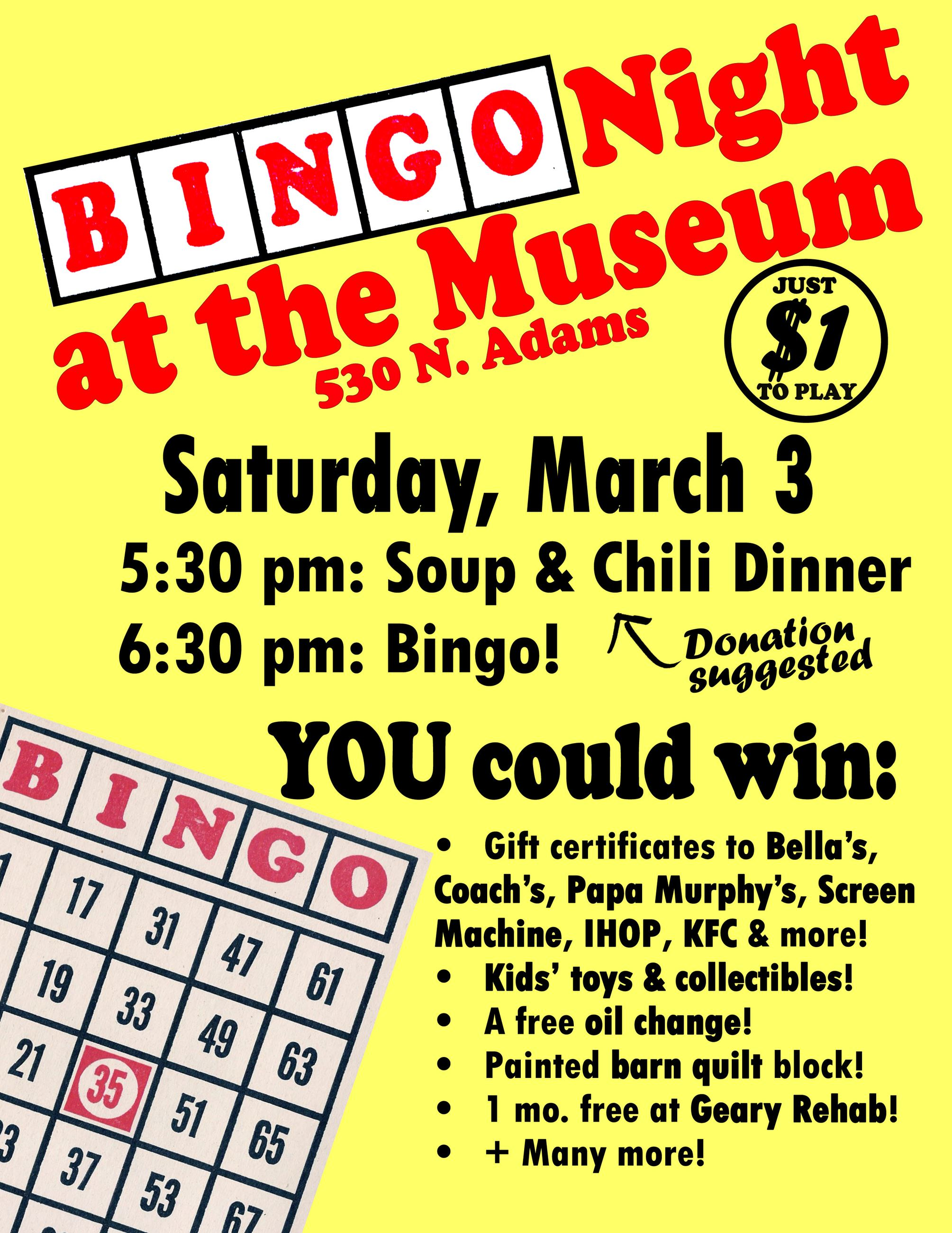 Bingo Night at the Museum 2018
