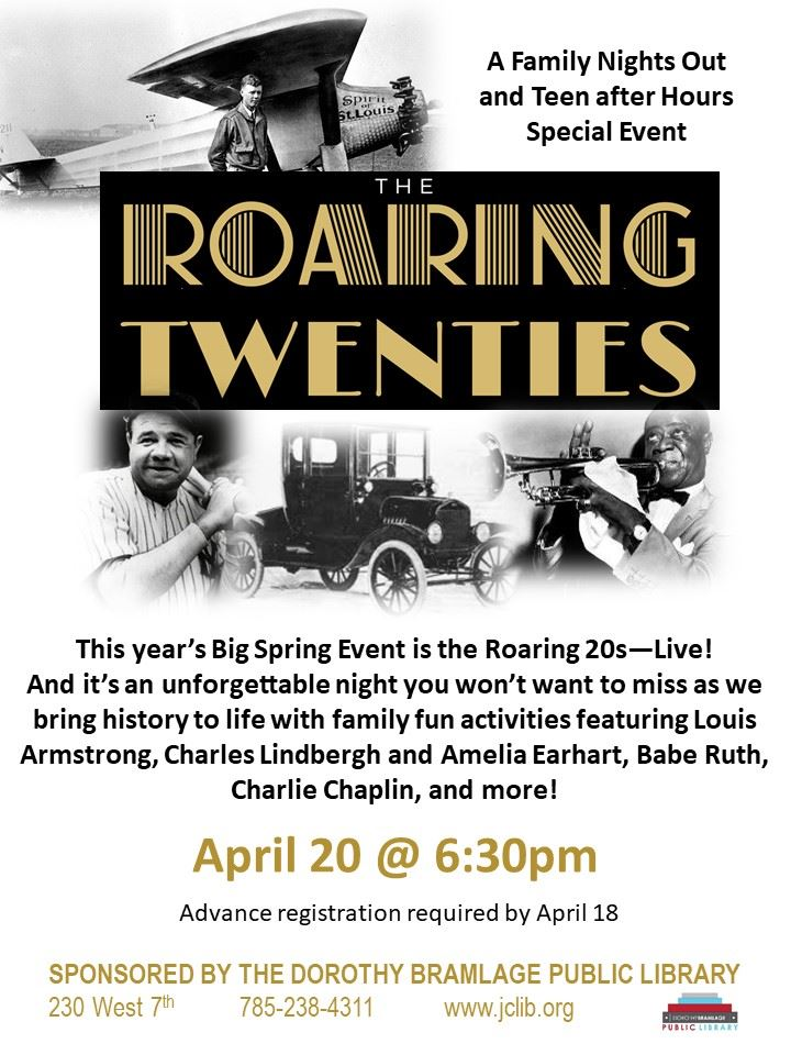 Big Spring Event: Roaring 20's Event-Live!