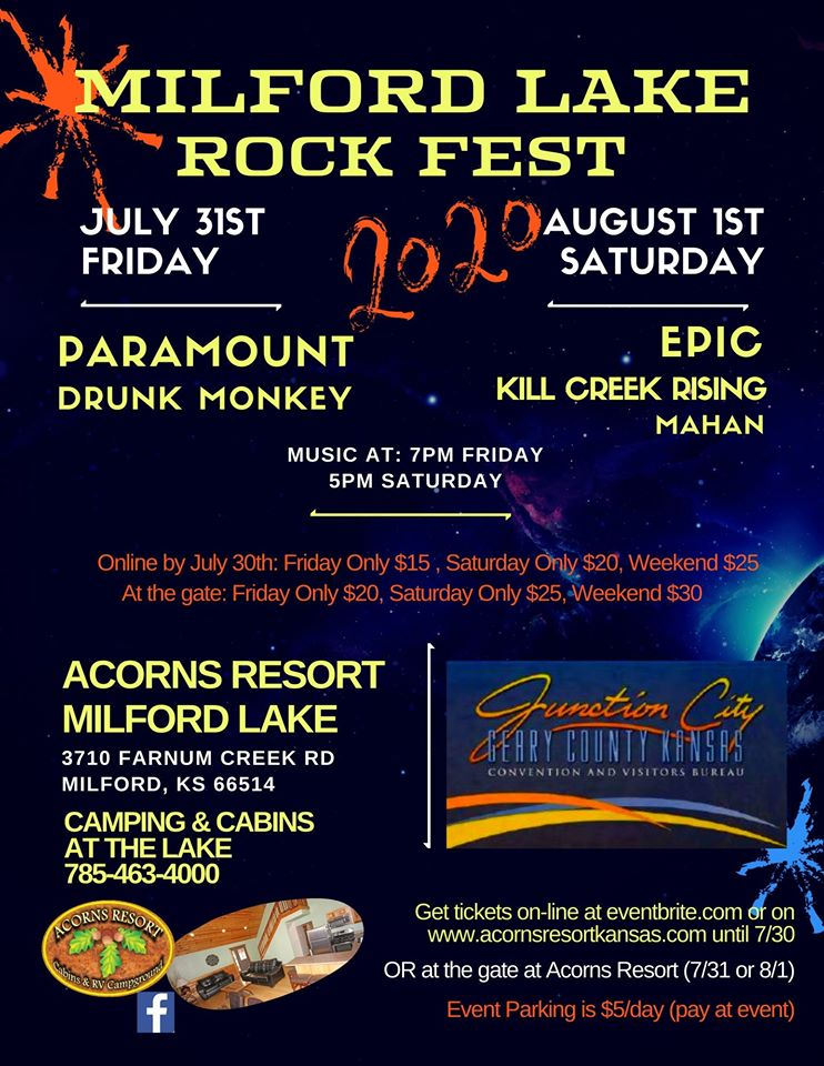 Acorns Rock Fest July Aug 2020